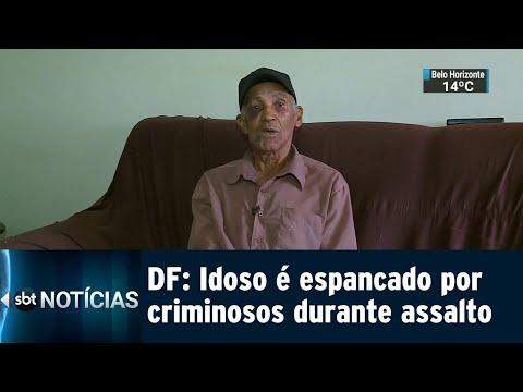 Câmeras flagram criminosos agredindo vigilante durante assalto | SBT Notícias (14/07/18)
