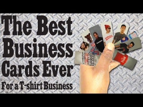 The Best Business Card Ever For Tshirt Business Youtube