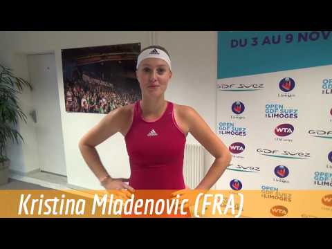 WTA Limoges 2014 - Kristina Mladenovic speaks Italian