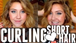HOW I CURL MY SHORT HAIR - KATIE LYNN