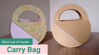 How to make paper handbag - Best out of waste