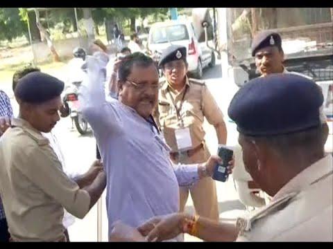 Congress Mla Virji Thummar Push To Woman PSI At Gandhinagar
