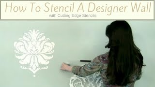 Decorating Ideas: Accent Wall Stenciling with Benjamin Moore's Color of the Year 2012
