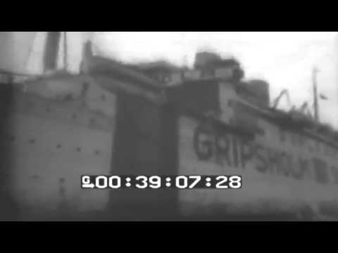 WW2 POW Exchange Ship Gripsholm Enters Harbor, New York, 03/15/1944