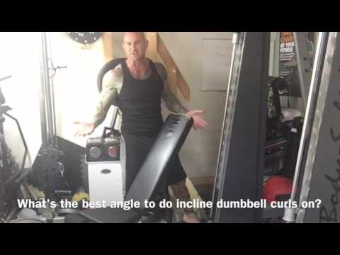 Incline Dumbbell Curl Tips: Part 1 - Bench Angle