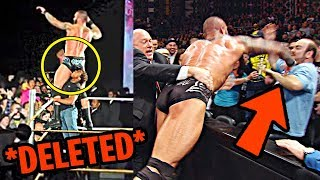 10 Deleted Moments WWE Doesn't Want You To See!