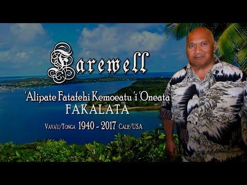 Tongan Farewell to 'Alipate Kemoeatu Fakalata - R.I.P.