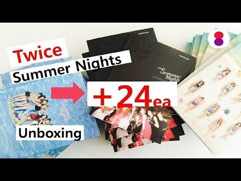 Another 24EA Unboxing Twice 2nd special album summer Nights 트와이스 여름 스페셜 2집 앨범 개봉 トゥワイススペシャル2集