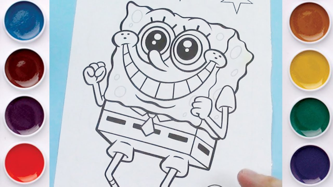 SpongeBob SquarePants And Patrick Star Coloring Page