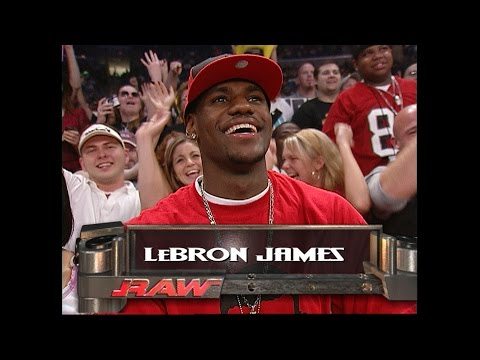 See Lebron James' visit to Raw in 2003