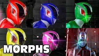 Power Rangers S.P.D. - All Ranger Morphs | Episodes 1-38 | It