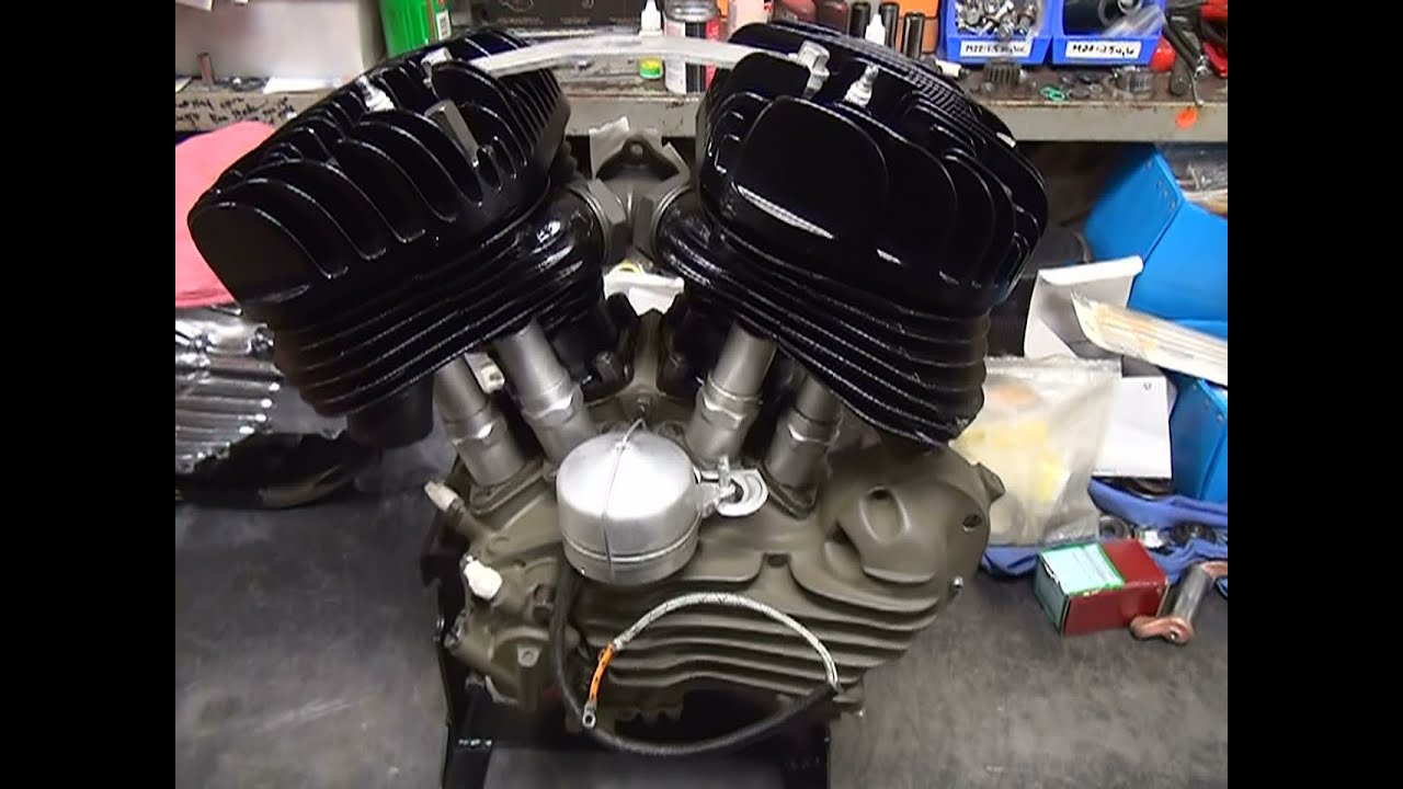 #101 1942 Harley 56ci 45 WL WLA flathead stroker hotrod motor build by  tatro machine by Tatro Machine
