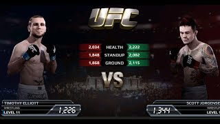 UFC EA Sports Boxing Timothy Elliott VS Scott Jorgensen Gameplay