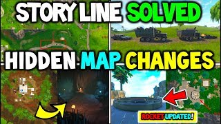 """*NEW* Fortnite """"NEW MAP CHANGES"""" Rocket LAUNCHED! + Dusty Caves? (SEASON 4 STORY LINE EXPLAINED)"""