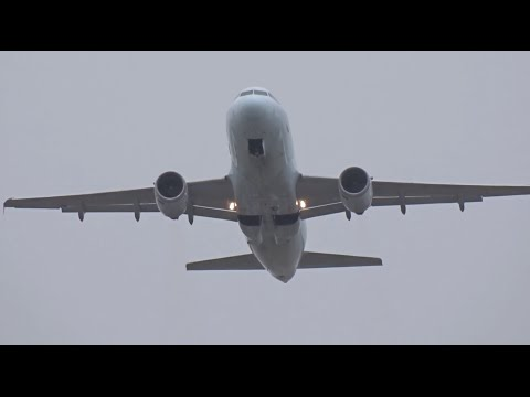 Air Canada Airbus A319-100 | Quick Planespotting Departure (1080HD) | Crosswind Landings