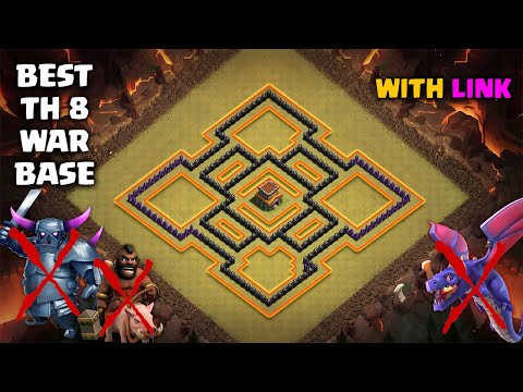 2019 BEST TH8 WAR BASE LAYOUT | With Link | Defense Against Th9 GoWiPe/Dragons/Th8 DragLoon