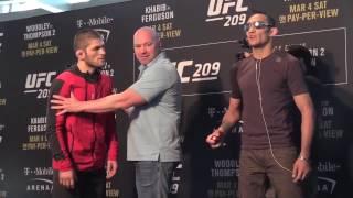UFC 209 Хабиб Нурмагомедов vs Тони Фергюсон. Дуэль Взглядов. Khabib Nurmagomedov vs Tony Ferguson