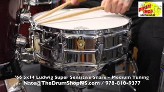 '66 Ludwig Super Sensitive Snare 5x14 - The Drum Shop North Shore