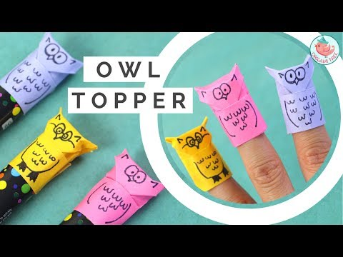 Origami Owl Tutorial! Paper Finger Puppet & Pencil / Marker Topper