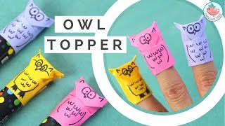 Origami Owl Tutorial! Paper Finger Puppet & Pencil / Marker Topper - Paper Crafts for Kids