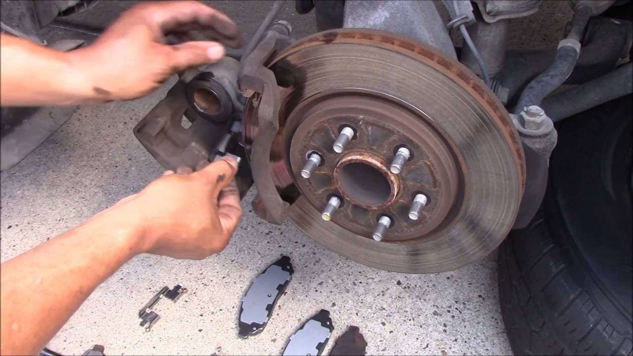 REPLACE FRONT BRAKE PAD ON NISSAN FRONTIER  YouTube