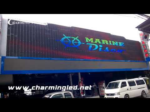 Led Flexible Curtain Display Project in Thailand, by CHARMING LED