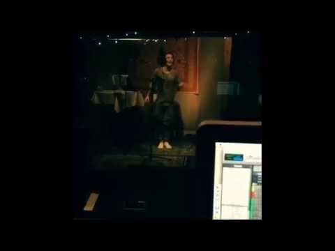 Justin Bieber sings falsetto recording Mark My Words in Los Angeles, California - August 22, 2015