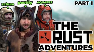 THE GREATEST RUST TŔIO OF ALL TIME - Part 1 - Rust w/ AquaFPS and ZChum