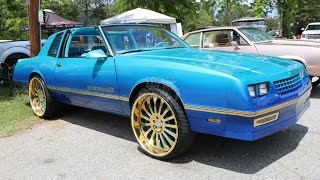 whipaddict 86 monte carlo ss t top on gold nc forged 24s custom paint interior