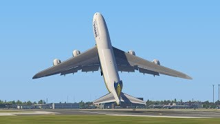 Giant Boeing 747 RyanAir Take Off After Taxi At The Wrong Runway | X-Plane 11