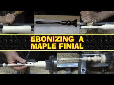 Ebonizing a Maple Finial