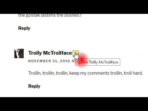 Commenter Ignore Button Demo