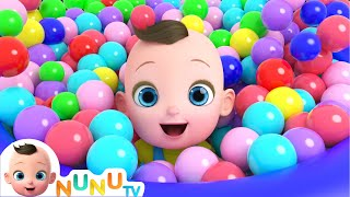 Learn Color Ball With Mommy + More Nursery Rhymes | Kids Songs | NuNu Tv