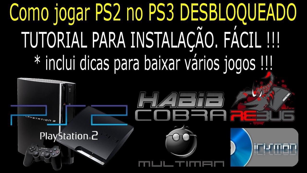 Como instalar JOGOS DE PS2 `SEM EMULADOR` no PS3 DESBLOQUEADO  TUTORIAL NO  CONSOLE !!!
