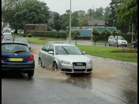Storm flooding in Stone Staffordshire