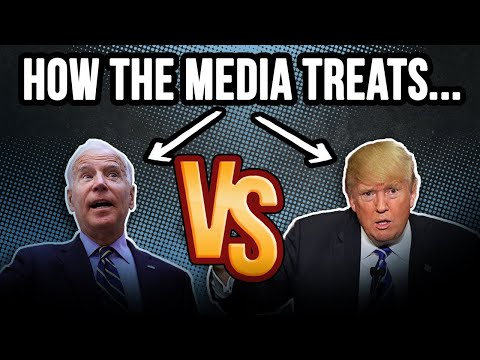 MEDIA ON BIDEN VS TRUMP: Joe's gaffes are treated a little d