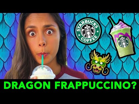 Thumbnail: 🐲 TRYING THE DRAGON FRAPPUCCINO (STARBUCKS SECRET MENU!) 🐉