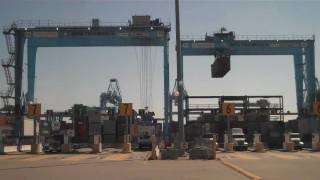 Maersk APM Shipping Container Terminal Port In Portsmouth Virginia