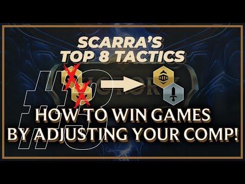 HOW TO ADJUST YOUR COMP TO WIN MORE GAMES | SCARRA'S TOP 8 TACTICS | Teamfight Tactics
