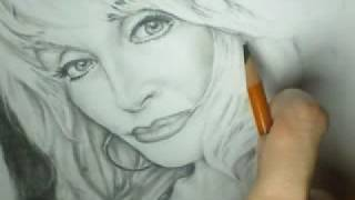 Teddy Wayne Smith Blog: Dolly Parton Drawing part 3 10-18-08