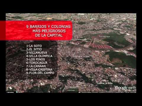 Barrios peligrosos de Tegucigalpa