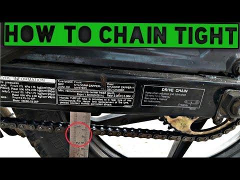 How to chain adjust Honda Unicorn 150 bike at HAME IN HINDI S ADVICE