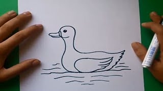 Como dibujar un pato paso a paso 2 | How to draw a duck 2