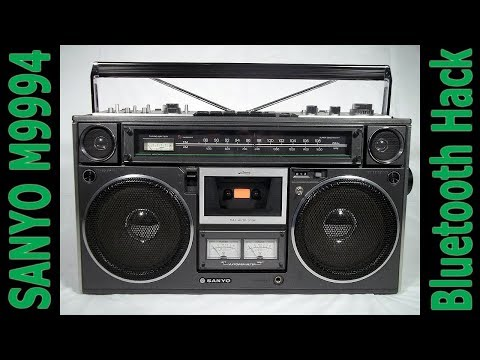 SANYO M9994 Boombox Restoration & Bluetooth Hack