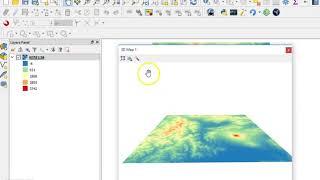 Digital Elevation Model (DEM) 3D Visualization in QGIS 3.0