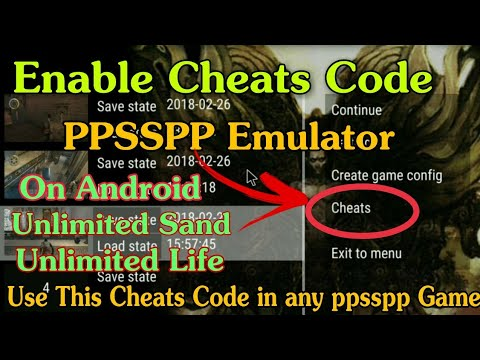 How to Use Cheats Code in Ppsspp Android | Pop unlimited sands | Use Cheats Code in Psp Game 2018