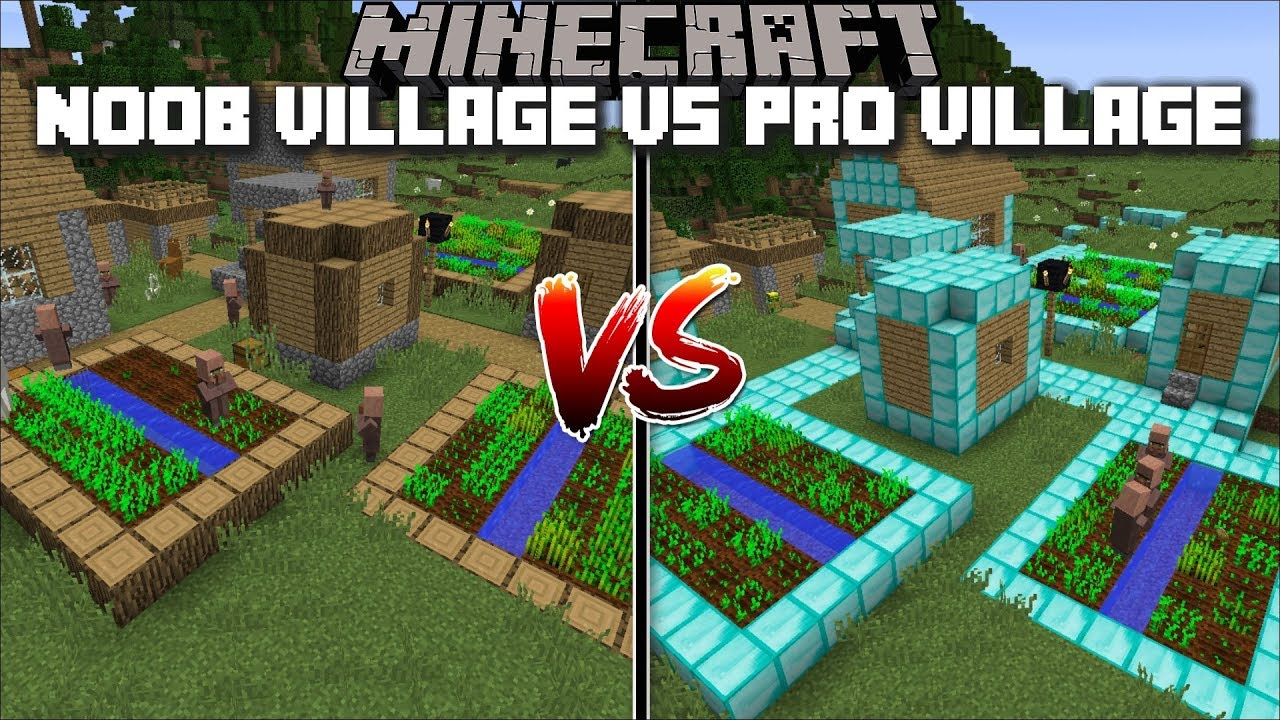 Minecraft Noob Village Vs Pro Village Mod Find Out What Villagers Prefer Minecraft