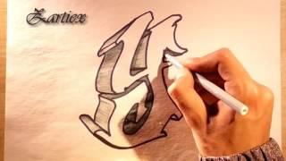 Como hacer letras 3D de graffitis faciles y sencillas - ZARTIEX