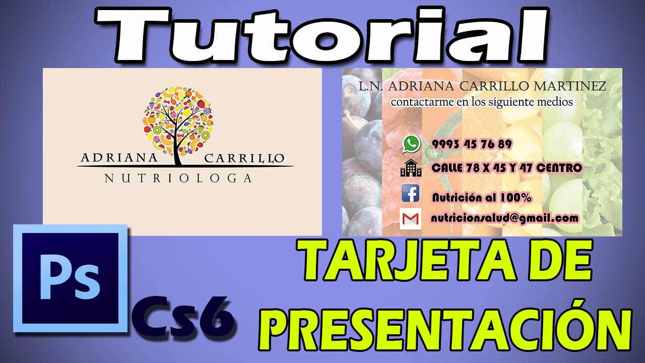 f5ac513c4fa14 TUTORIAL PHOTOSHOP CS6 - COMO HACER UAN TARJETA DE PRESENTACION ...