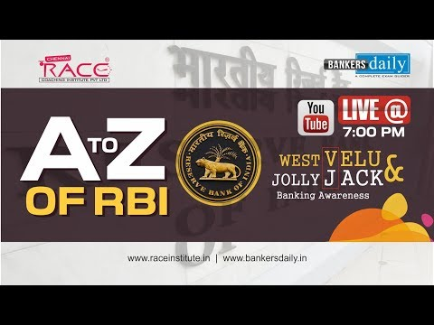 RBI | A to Z | Banking Awareness | Mr. Velumani & Jackson | Live